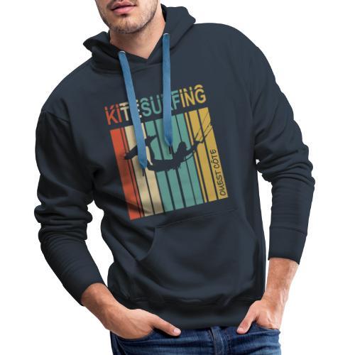 Kitesurfing Ouest Côte - Sweat-shirt à capuche Premium pour hommes