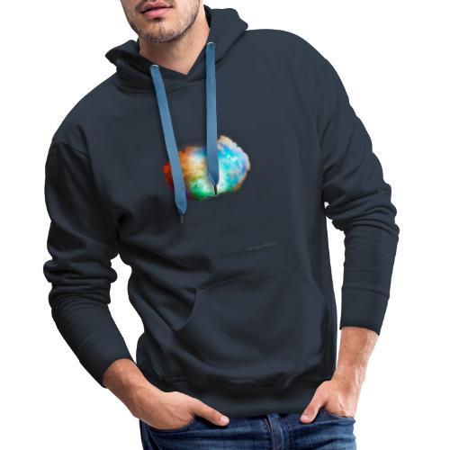 Nuvola rainbow - Felpa con cappuccio premium da uomo