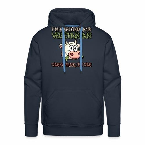 Secondhand vegetarian - Mannen Premium hoodie