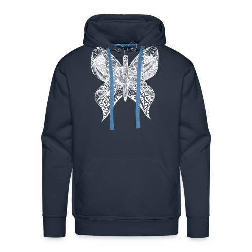 Schmetterling weiss - Männer Premium Hoodie