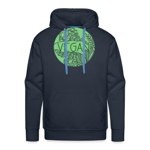 Vegan und Blättersalat - Männer Premium Hoodie