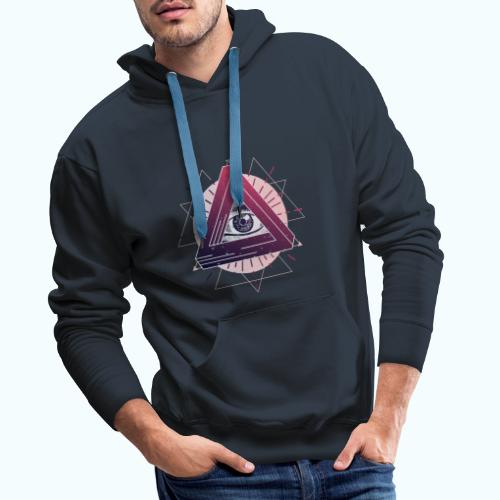 All-seeing eye triangle magic - Men's Premium Hoodie