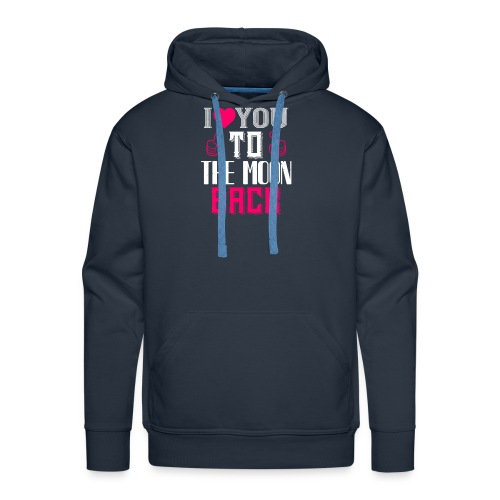 I Love You To The Moon Beach - Men's Premium Hoodie