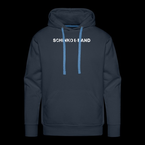 SCHINKO BAND Logo Weiß - Männer Premium Hoodie