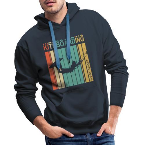 Kiteboarding WEST COAST - Sweat-shirt à capuche Premium pour hommes