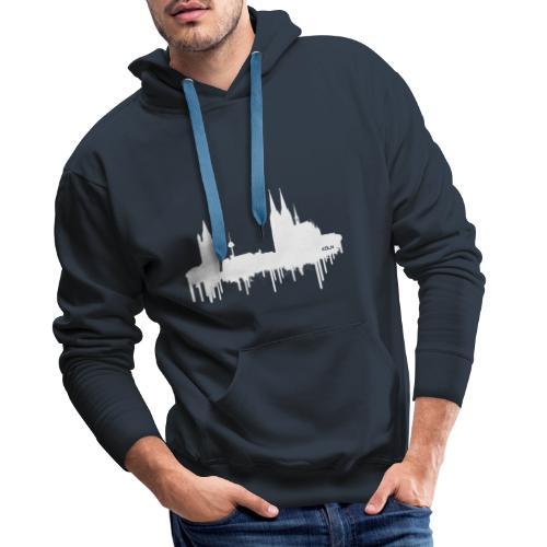 Skyline Köln - Weiß - Männer Premium Hoodie