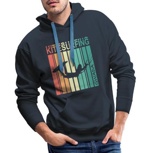 Kitesurfing GWADA - Sweat-shirt à capuche Premium pour hommes