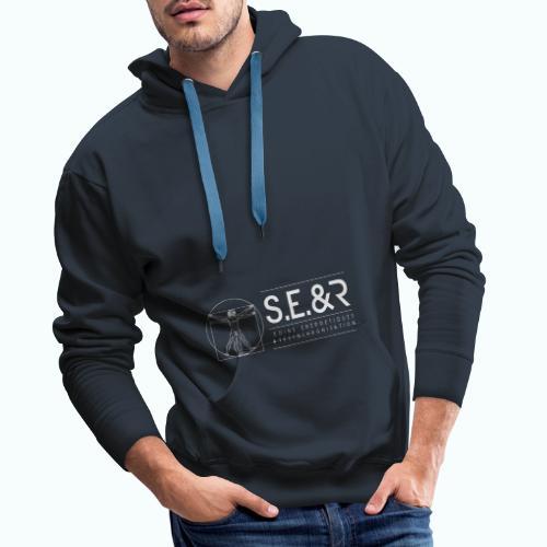 logo C Blanc2 - Sweat-shirt à capuche Premium pour hommes