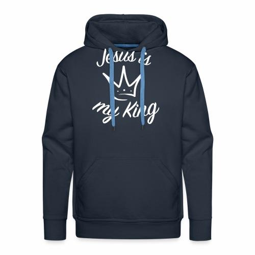 Jésus est mon roi - Sweat-shirt à capuche Premium pour hommes