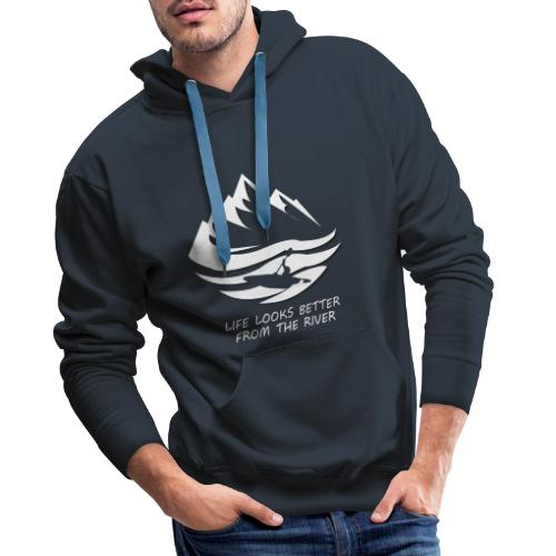 life looks better from the river - weiß - Männer Premium Hoodie