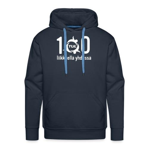 TUL100-tuotteet, valkoinen logopainatus - Miesten premium-huppari