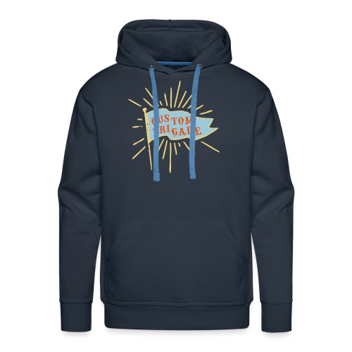 drapeau custom brigade - Sweat-shirt à capuche Premium pour hommes