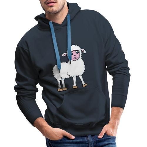 Minos le petit agneau - Sweat-shirt à capuche Premium pour hommes