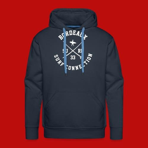 Logo BSC_ Blanc - Sweat-shirt à capuche Premium pour hommes
