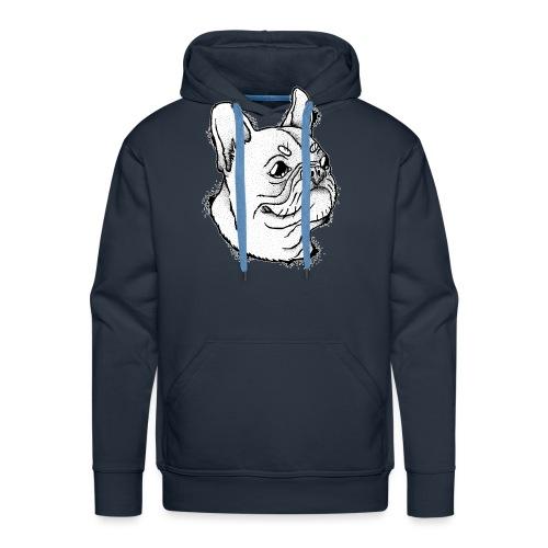 Französische Bulldogge Kopf - Männer Premium Hoodie