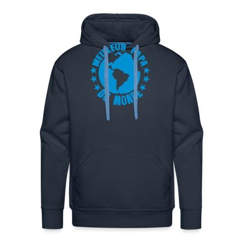 meilleur papa du monde terre planete - Sweat-shirt à capuche Premium pour hommes