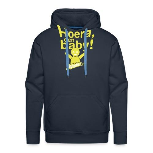 HoeraB distort2 - Mannen Premium hoodie