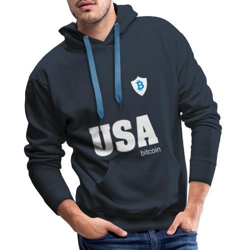 USA Bitcoin - Sudadera con capucha premium para hombre