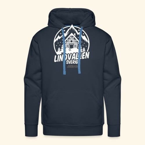 Lindvallen Sälen Sverige Ski Resort T Shirt Design - Männer Premium Hoodie