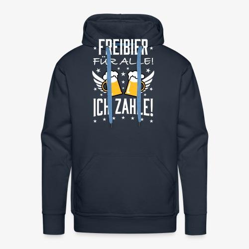 114 Freibier für alle ich zahle Bier Prost - Männer Premium Hoodie
