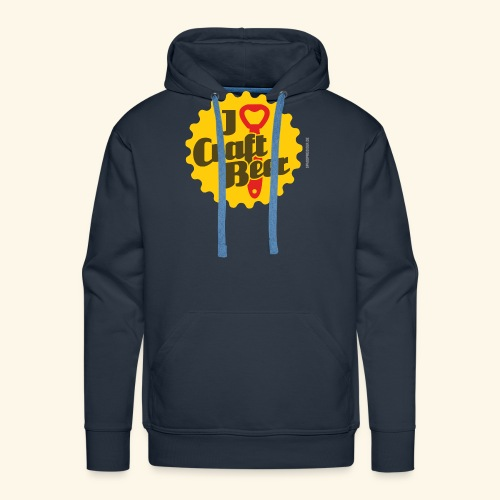 Craft Beer T-Shirt Design I Love Craft Beer - Männer Premium Hoodie