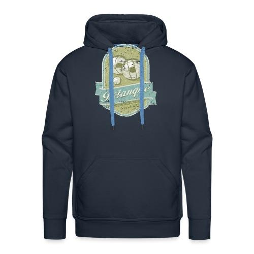 Petanque vintage - Sweat-shirt à capuche Premium pour hommes