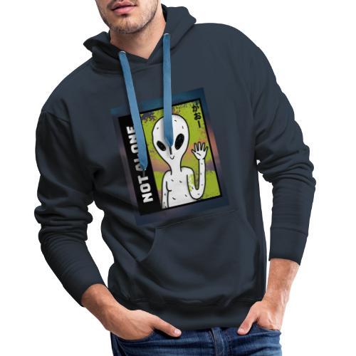 alien t shirt design maker featuring a smiling ali - Herre Premium hættetrøje