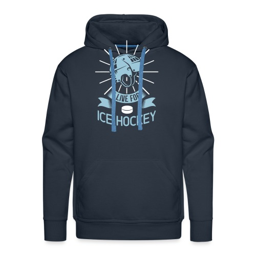 I Love For Ice Hockey - Men's Premium Hoodie