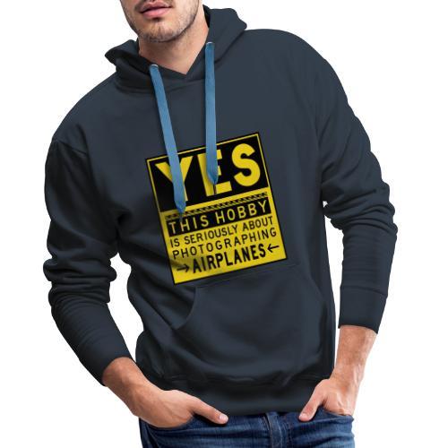 O co chodzi w planowaniu - znak fartucha - Bluza męska Premium z kapturem