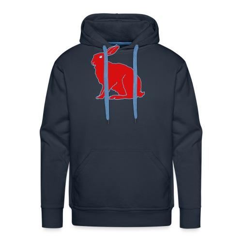 Roter Hase - Männer Premium Hoodie