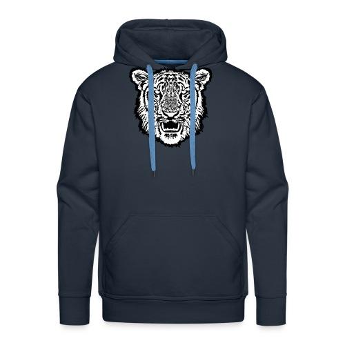 tigre1 - Felpa con cappuccio premium da uomo