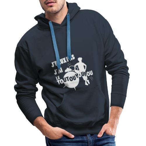 JPEUXPAS BLANC - Sweat-shirt à capuche Premium pour hommes