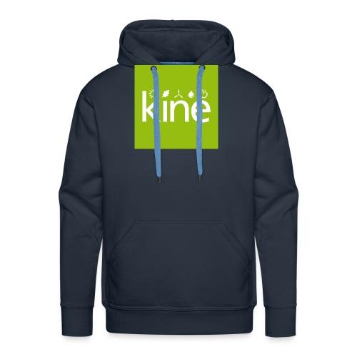 kine Logo nur für Button mit Hintergrund - Männer Premium Hoodie