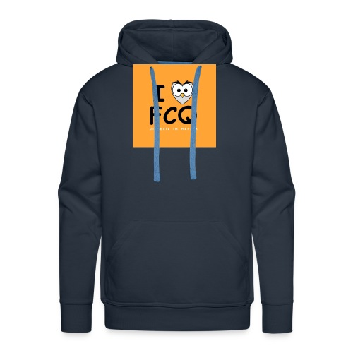 I Love FCQ button orange - Männer Premium Hoodie