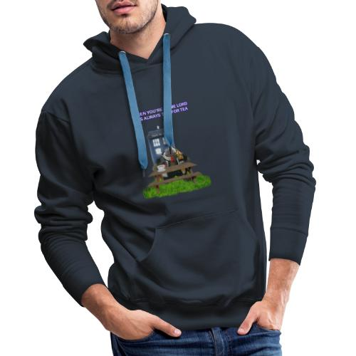 TIME AND SPACE AND TEA - Men's Premium Hoodie