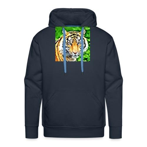 tigre - Felpa con cappuccio premium da uomo