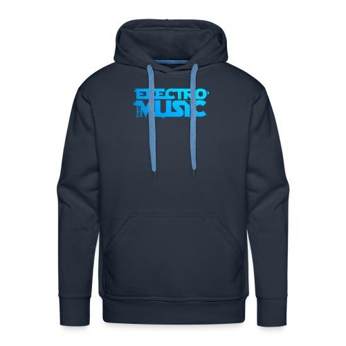 T-Shirt Electro Music Homme - Sweat-shirt à capuche Premium pour hommes
