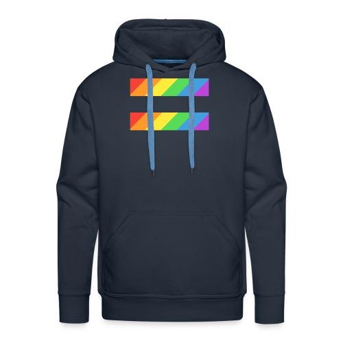 LGBTQ Equality Pride Logo - Men's Premium Hoodie