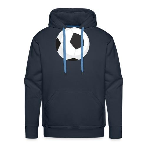 soccer ball - Felpa con cappuccio premium da uomo