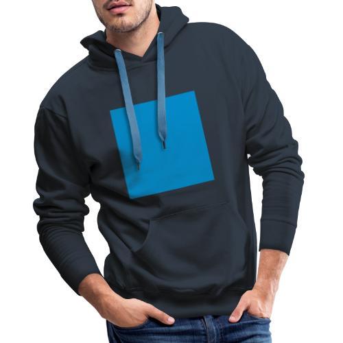 Sweat Carré Bleu - Sweat-shirt à capuche Premium pour hommes
