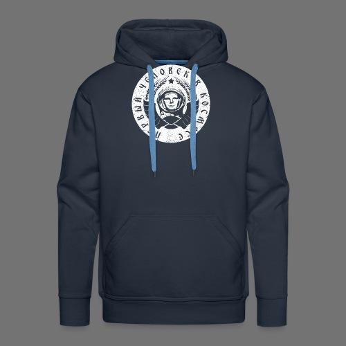 Cosmonaut 1c white (oldstyle) - Men's Premium Hoodie