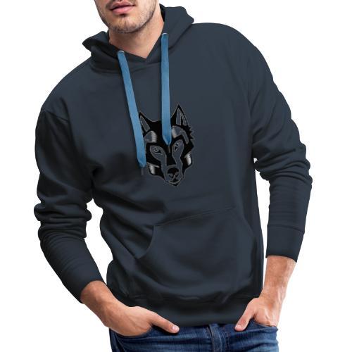 loup tete - Sweat-shirt à capuche Premium pour hommes