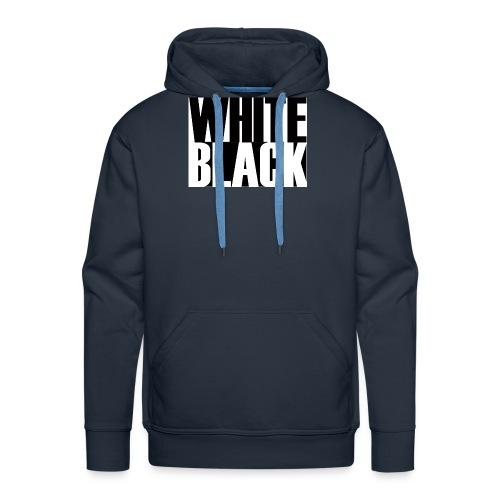 White, Black T-shirt - Mannen Premium hoodie