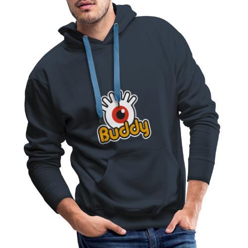Buddy Label (Color) - Sweat-shirt à capuche Premium pour hommes