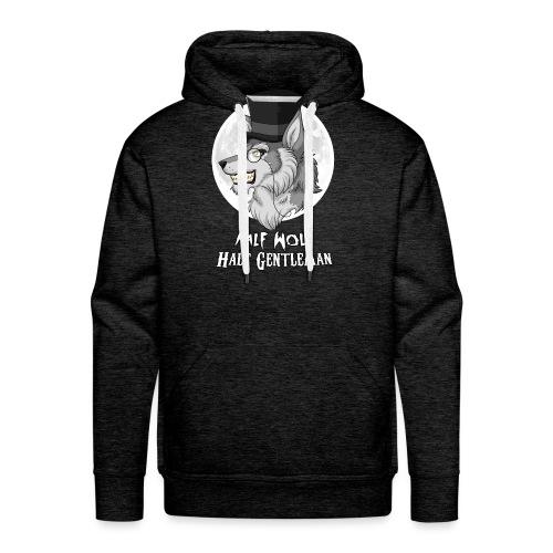 Half Wolf Half Gentleman - Bluza męska Premium z kapturem