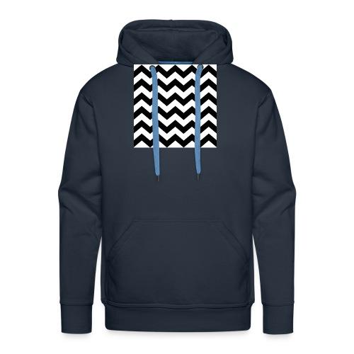 zigzag png - Sweat-shirt à capuche Premium pour hommes