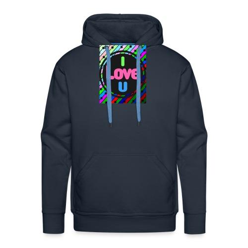 I Love U - Sudadera con capucha premium para hombre