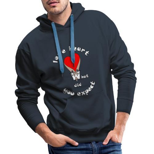 Tee shirt cœur sexy humour quoi d'autres - Sweat-shirt à capuche Premium pour hommes