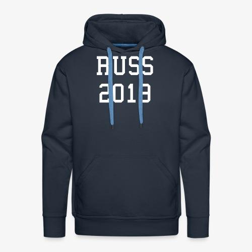 RUSS 2019 HVIT - Premium hettegenser for menn