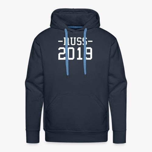 -RUSS- 2019 HVIT - Premium hettegenser for menn
